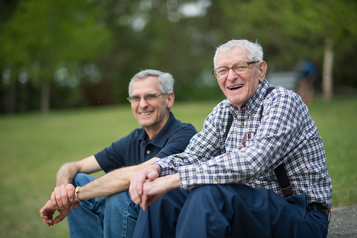 Dad/Mark & Grandpa Don @ Lake Shaftsbury | by goingslowly