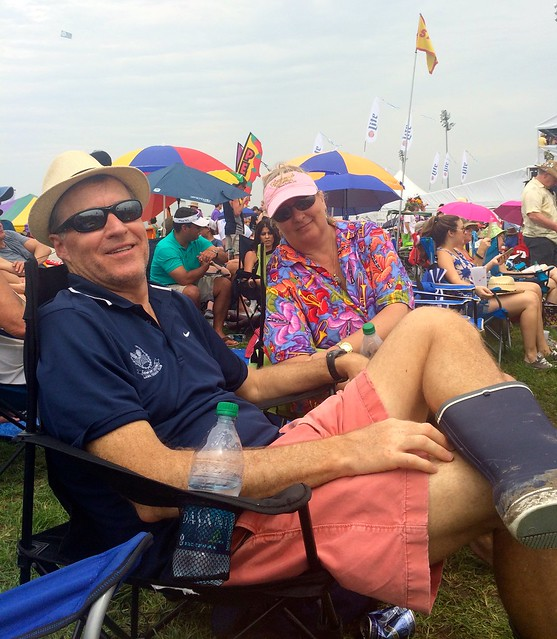 Rick and Eva waiting for Jimmy Buffet