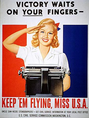 World War II Poster - Victory Waits On Your Fingers