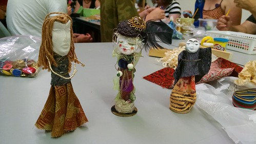 Art Doll Workshop at Makerspace 125, May 31, 2015