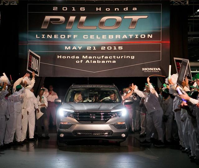 2016 Honda Pilot SUV begins mass production in Alabama
