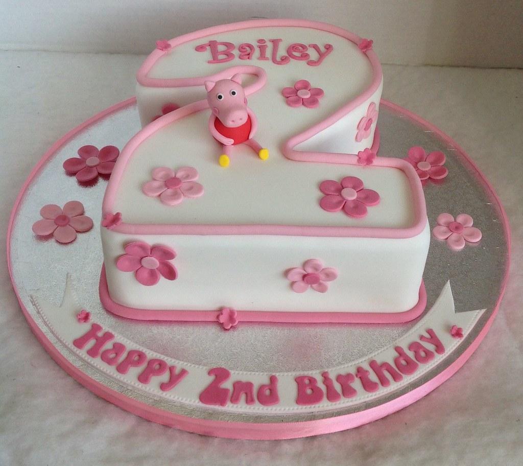 Cake Designs Number 2 : Number 2 Peppa Pig Cake Liz Flickr