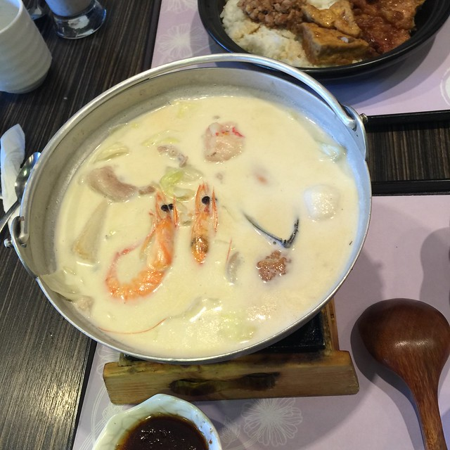 Milk Seafood & Pork Hot Pot at Pearl Castle Cafe