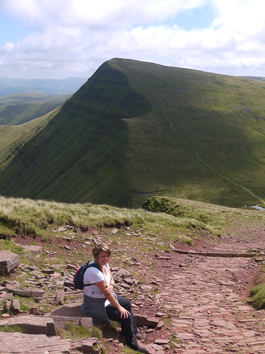 Our path can just be seen around Cribyn