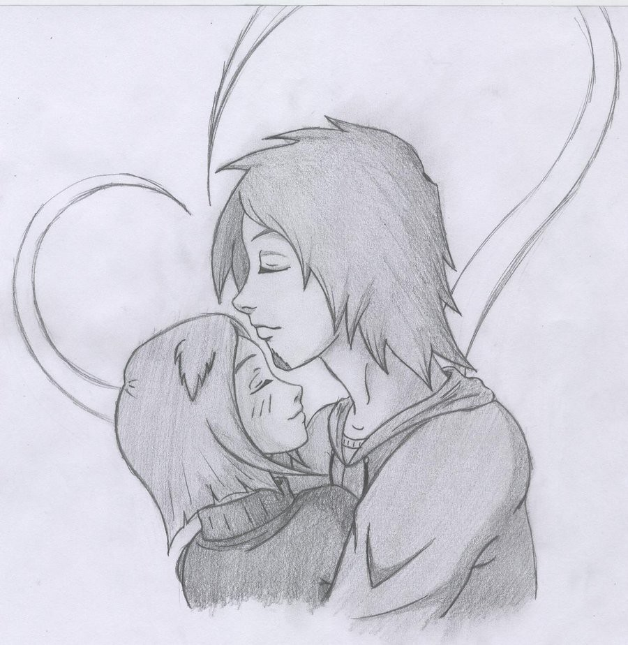 Pencil drawings of couples in love love pencil