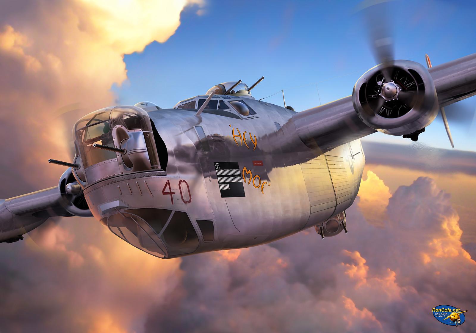 рисунок B-24 H Liberator 'Hey Moe'