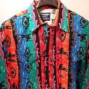 Wrangler Aztec rainbow rodeo shirt