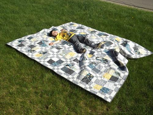 Enjoying a Quilt