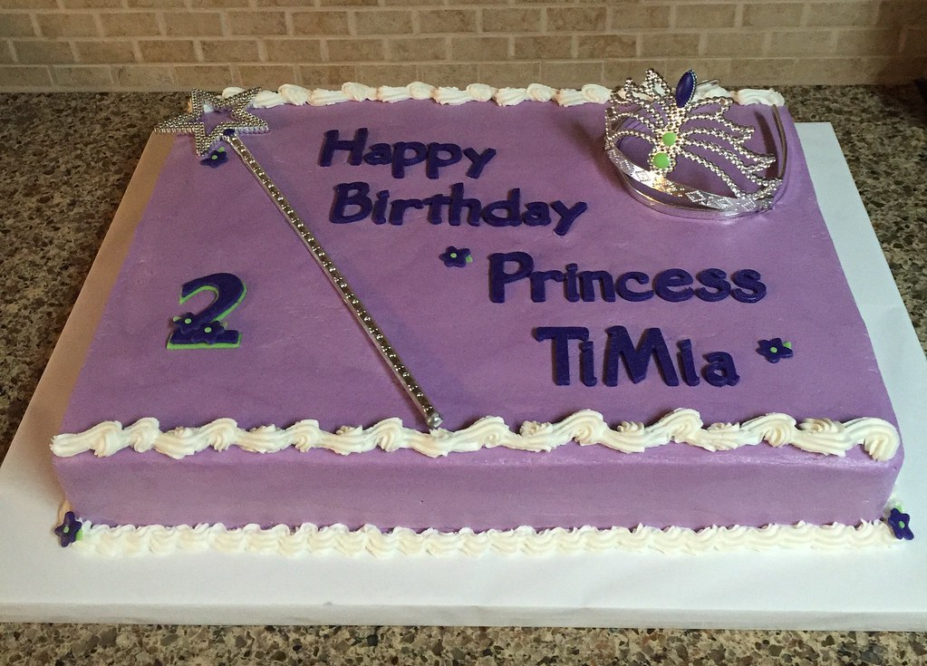 Happy Birthday Princess Cake Torted Vanilla Sheet Cake Ti Flickr