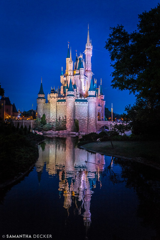 Cinderella's Castle in the Blue