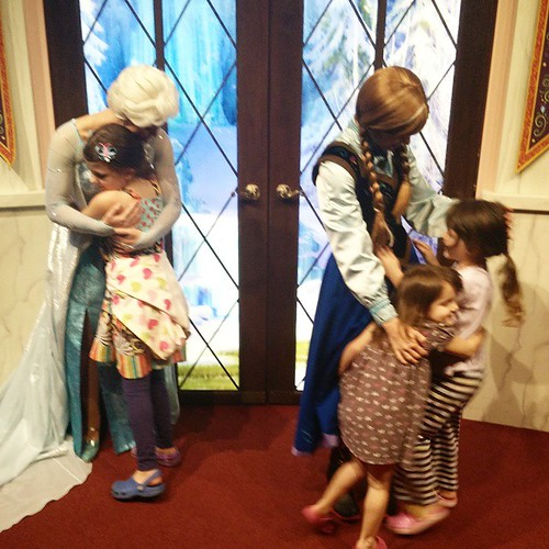 First time meeting Anna and Elsa. The love is real! | by Urthmama