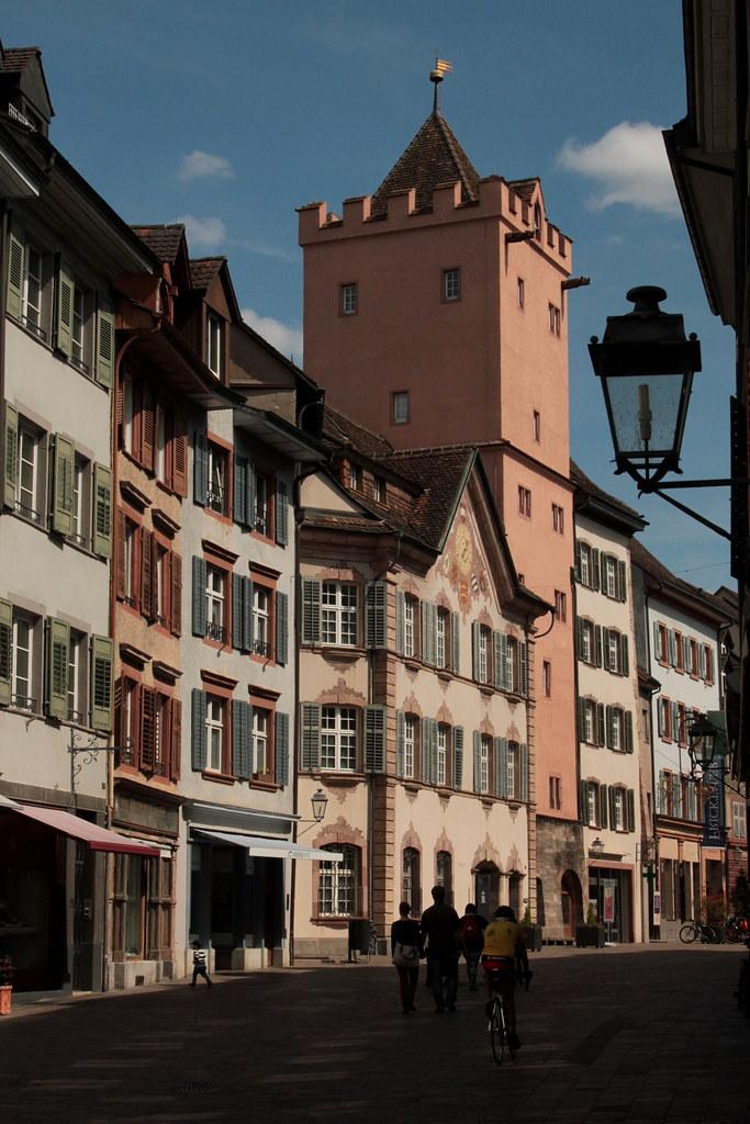 Rathausturm des rathaus rheinfelden in der altstadt stad for Thermalbad rheinfelden schweiz