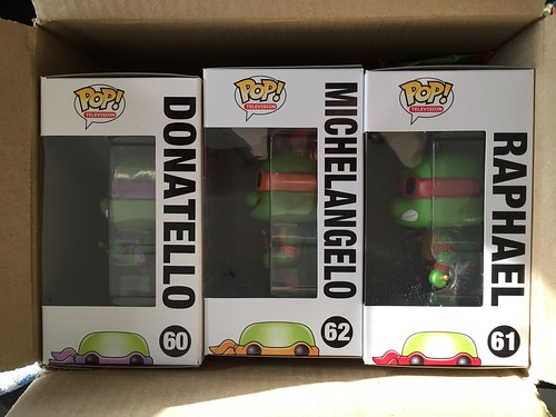 POP! Tortues Ninja - unpacking