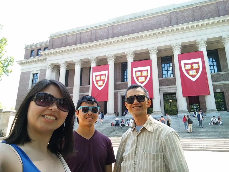 Selfie at Harvard