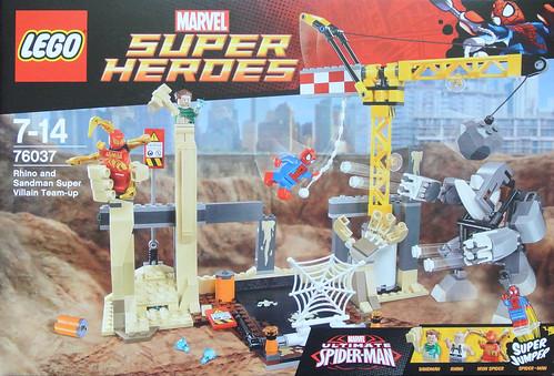 Review: 76037 Rhino and Sandman Supervillain Team-up | Brickset ...