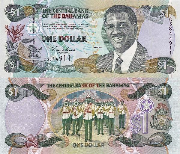 1 bahamský dolár Bahamy 2001