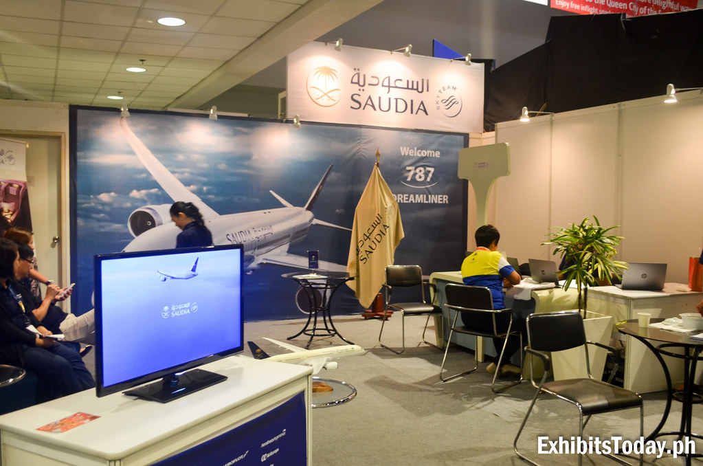 Saudi Airlines Exhibit Booth