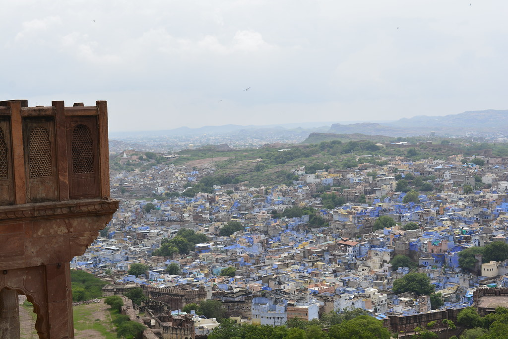 The view of Jodhpur city from Mehrangarh Fort.