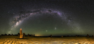 Milky Way Panorama - The Pinnacles Desert, Western Australia | by inefekt69