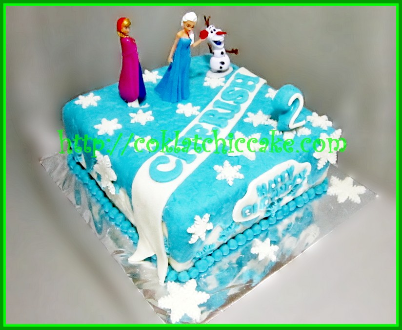 Cake Frozen Disney Cherish Coklatchic Cake