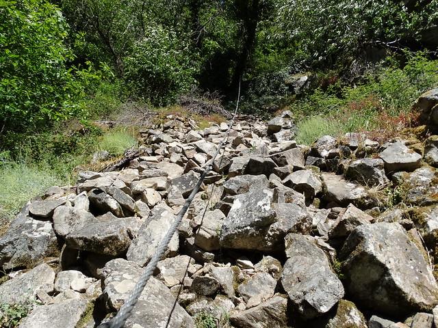 Cuerda en la Ruta de Augacaída - Castro de Marce
