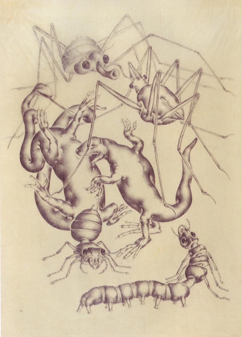 Otto Neumann - Dancing Grotesques, 1927