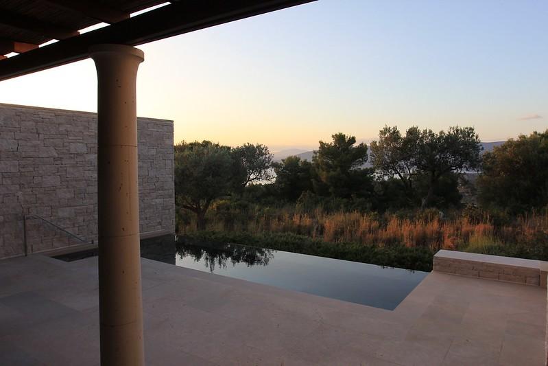 Amanzoe standard pavilion pool