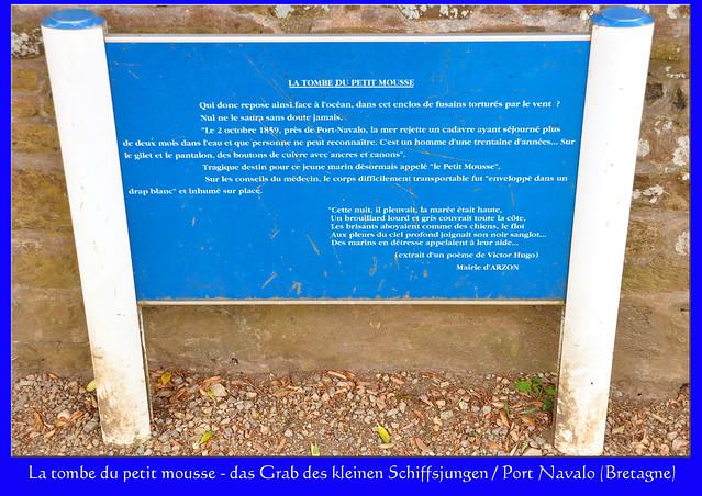 Bretagne, Port Navalo: La tombe du petit mousse. Das Grab des kleinen Schiffsjungen. - Fotos: Brigitte Stolle 2016