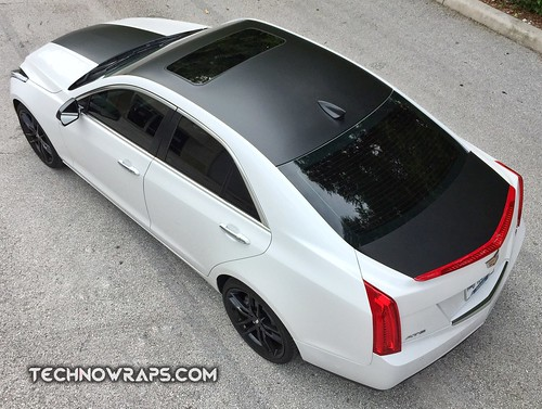 Cadillac ATS with Satin Black wrap accents | Custom vinyl ...