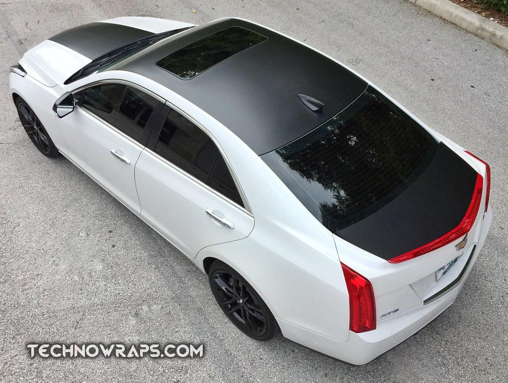 Cadillac Ats With Satin Black Wrap Accents Custom Vinyl