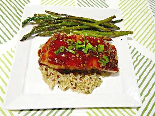 Salmon with Balsamic Thai Chili Glaze