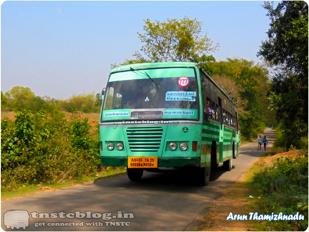 TN-25N-0084 of Tiruvannamalai 3 Depot  777 Tiruvannamalai - Jamunamarathur via Kalasapakkam, Polur, Athimoor.