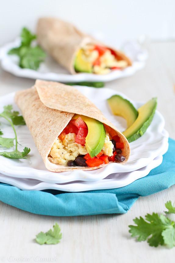 Healthy Avocado Breakfast Healthy Breakfast Burrito With