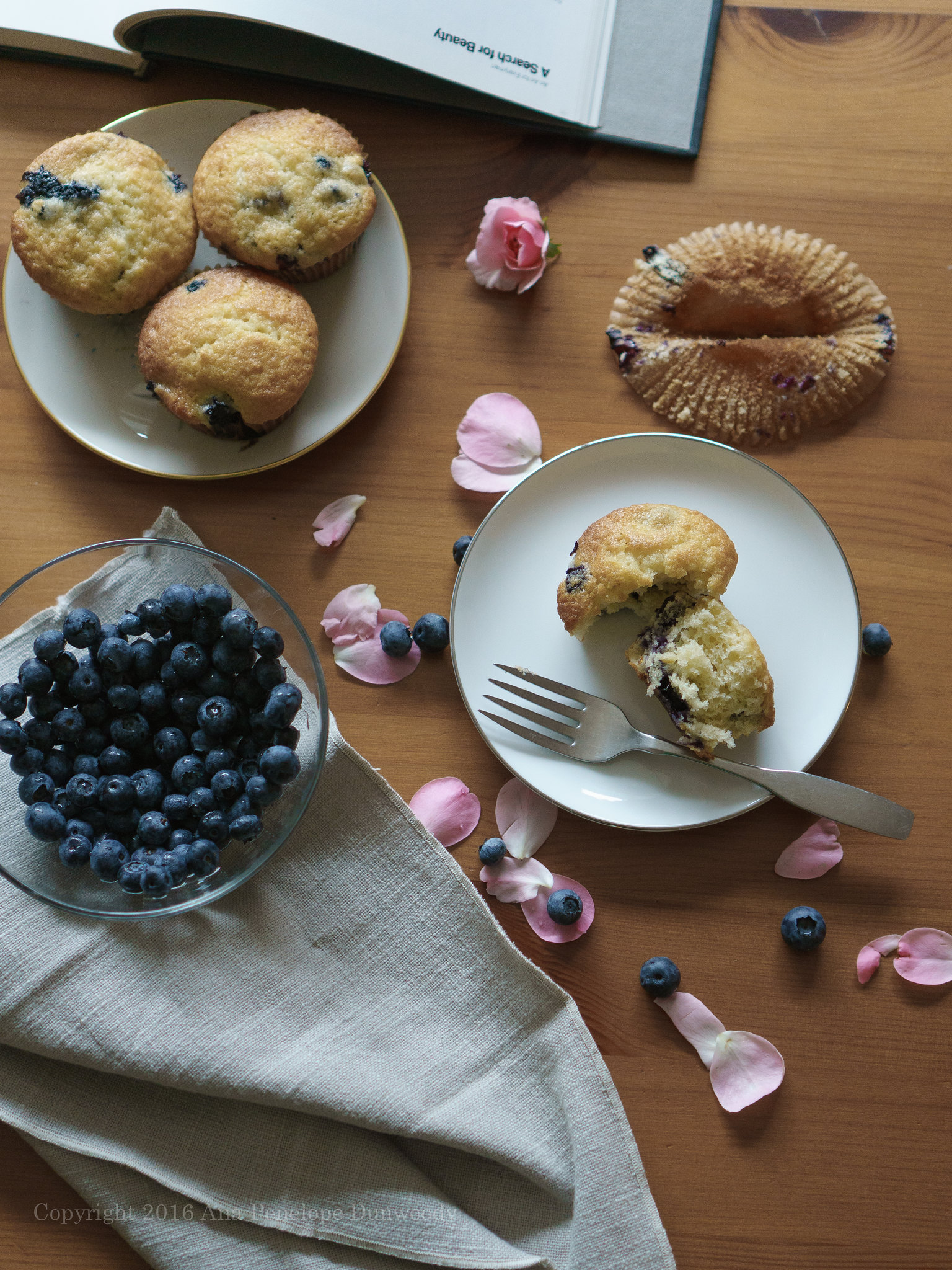 A search for beauty in blueberry muffins and rose petals