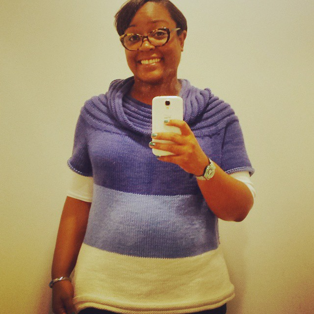 My selfies are always awkward but my sweater is super cute! #dwjknits #knitstagram