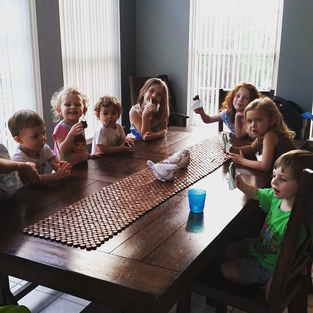 Ice cream with cousins. Perfect end to a fun day with family.  #stevensonpartyoffive #cousins
