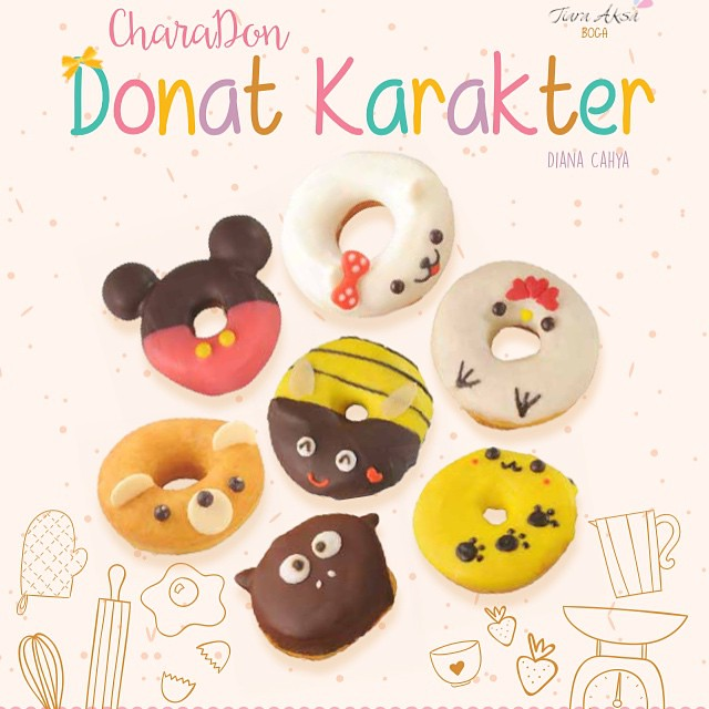 My second book will launch asap, this is 1 year's project. Thanks God everything almost done.  Take long time for finishing this Charadon Book, hope this book will be an inspiration for making creative donuts :)  #ComingSoon #CharaDon #CharacterDonut #Don
