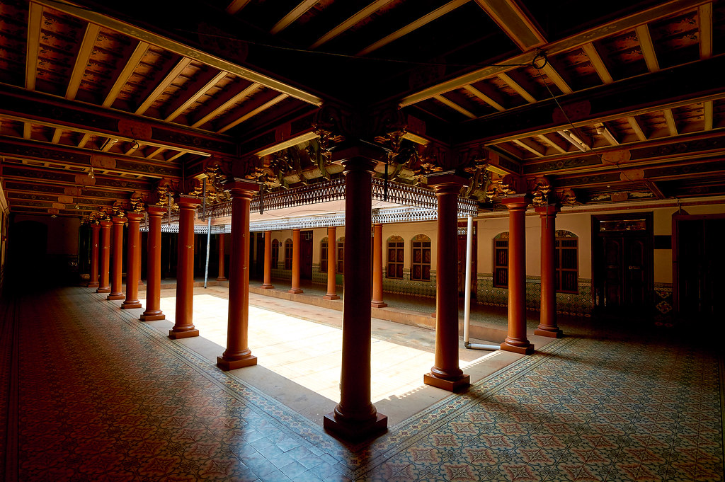Central Courtyard Mutram Athangudi Palace Chettinad Ka