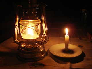 lampião e vela