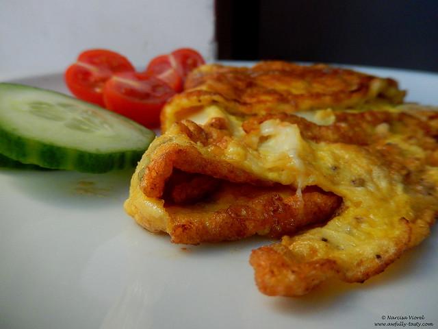 omleta cu salvie si mozzarella