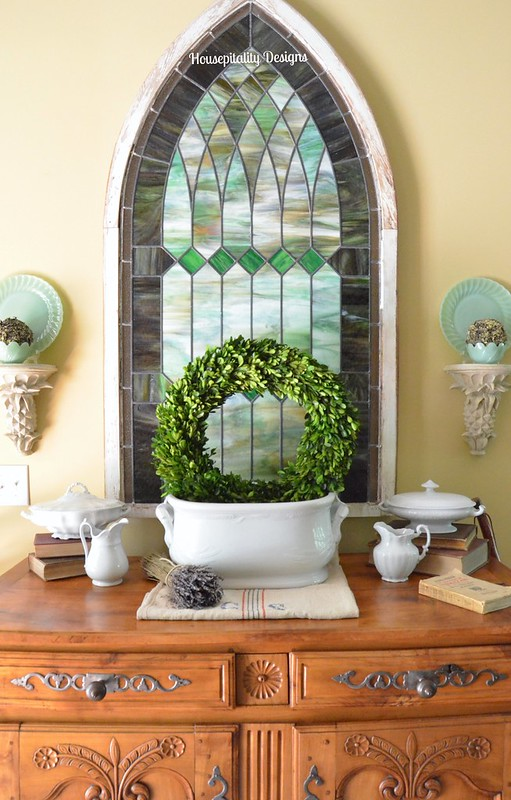 Antique French Buffet and Vintage Ironstone-Housepitality Designs