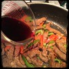 #CucinaDelloZio #Homemade Steak'n'Peppers in red #wine - the wine