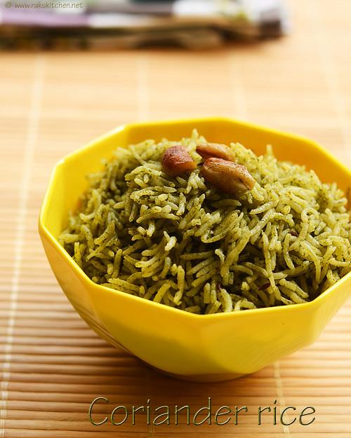coriander-rice-kothamalli-sadam