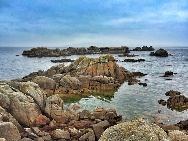 Paisajes de la península de O Grove en San Vicente do Mar (Galicia)