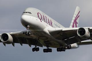 Qatar Airways Airbus A380-861 cn 181 F-WWSC // A7-APE
