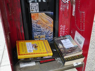 Old phone booth repurposed as BookCrossing station
