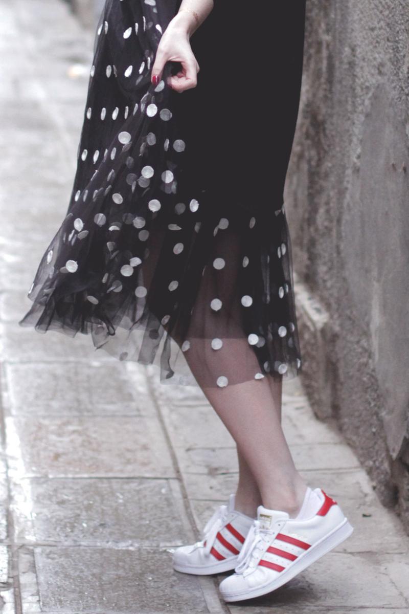 Boohoo Polkadot Tulle Dress, Bumpkin Betty