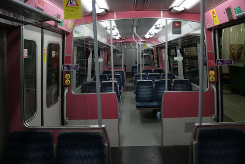 Interior of TfL Rail 315861, Liverpool Street