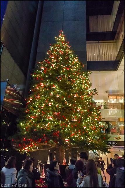 Ginza Pedestrian Sunday-- Christmas Tree