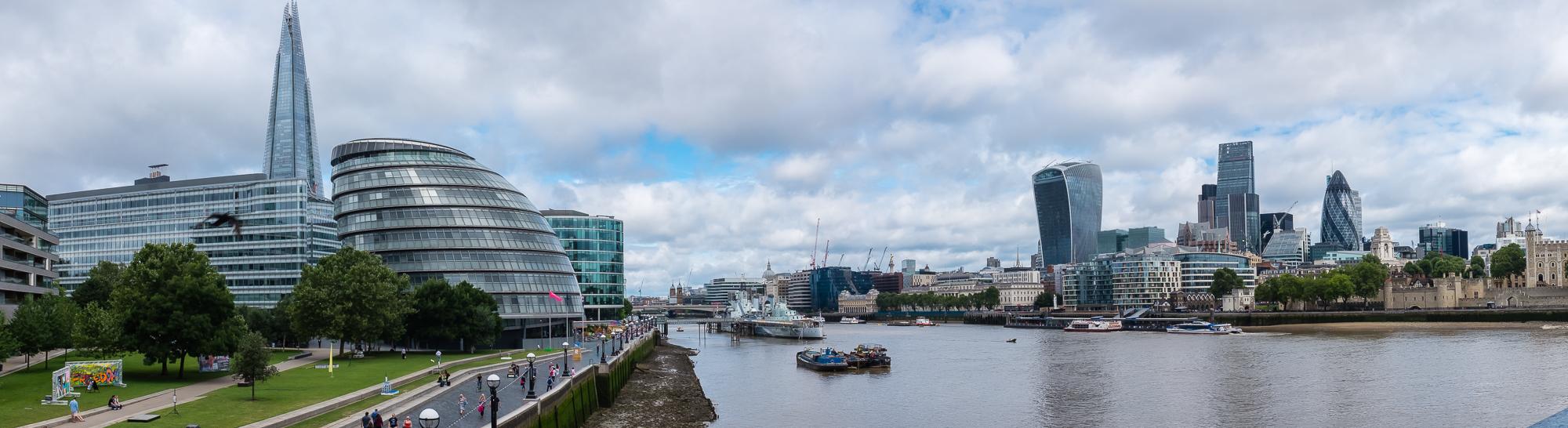 La City desde el río.